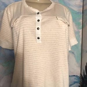 Ralph Lauren Jeans Co. Beige Striped Cotton Top